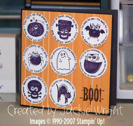 Hallowe'en card with wiggle eyes