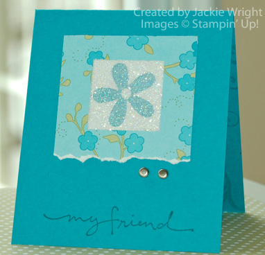 Sparkly Window card