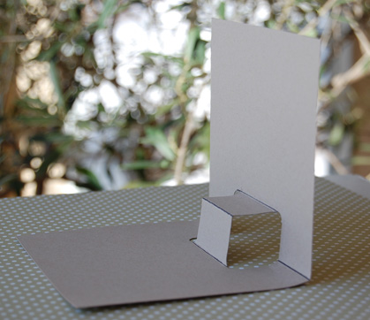 Pop-up card side view