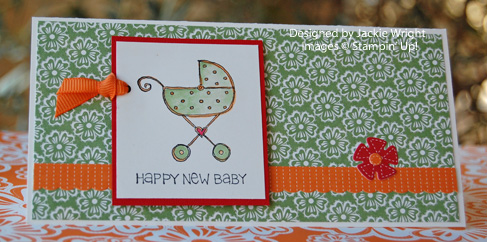 Summer Days Baby Girl card