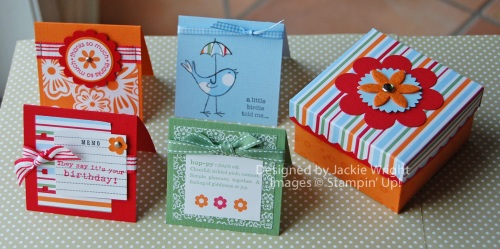 Summer Days mini cards with box