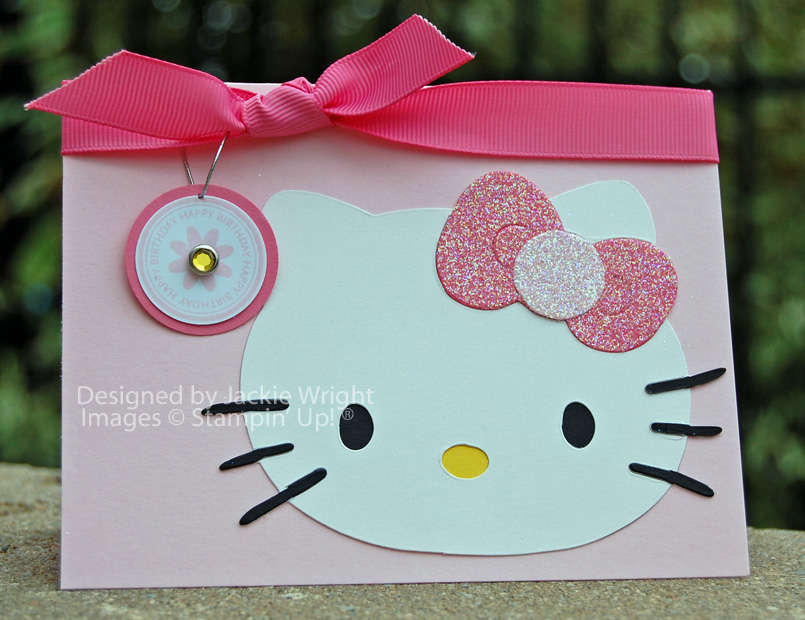 Hello kitty sparkles for world card making day jackie 39 s blog for Diy kitty