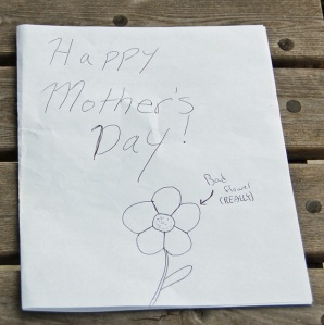 Mothers Day card from Dallin 2009
