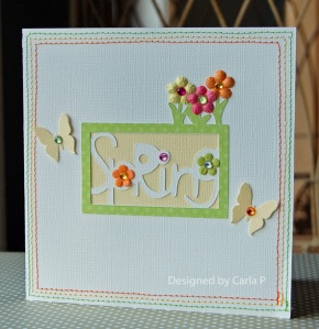 Spring card by Carla P