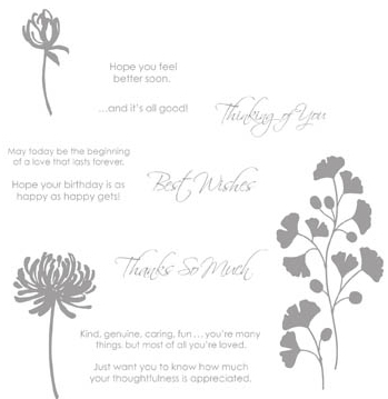 kind and caring thoughts stamp set