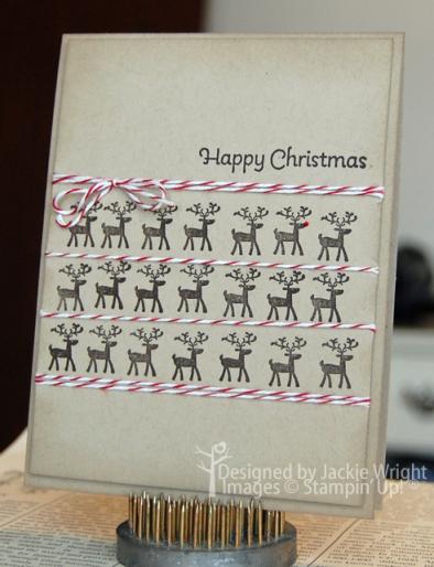 Happy Christmas reindeer - www.jackiestamps4fun.wordpress.com