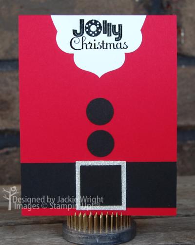 Jolly Christmas Santa card - www.jackiestamps4fun.wordpress.com