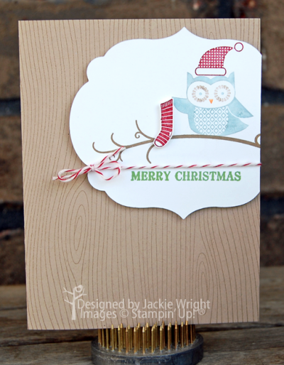 Merry Christmas Owl Occasions - www.jackiestamps4fun.wordpress.com